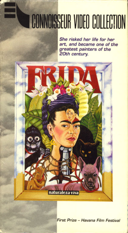 Frida, Naturaleza Viva aka Frida, Still Life VHS cover art. Biography starring Ofelia Medina, Juan José Gurrola, Max Kerlow. Directed by Paul Leduc. 1986.