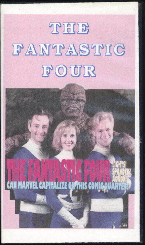 The Fantastic Four (1994) on VHS. Starring Alex Hyde-White, Jay Underwood, Rebecca Staab, Michael Bailey Smith, Joseph Culp, Carl Ciarfalio, George Gaynes. Directed by Oley Sassone. Produced by Roger Corman. 1994.