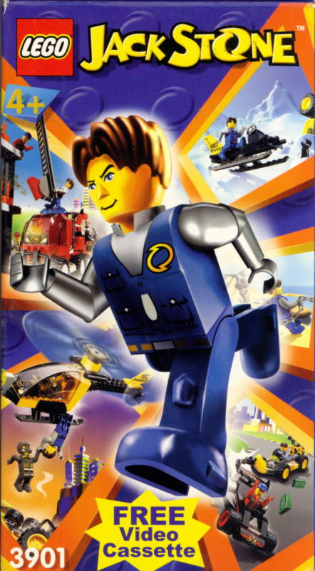 Lego Jack Stone VHS box cover art. Short movie starring Marc Smith, Martin Sherman, Andy Loudon. Directed by Robert Dorney. 2001.