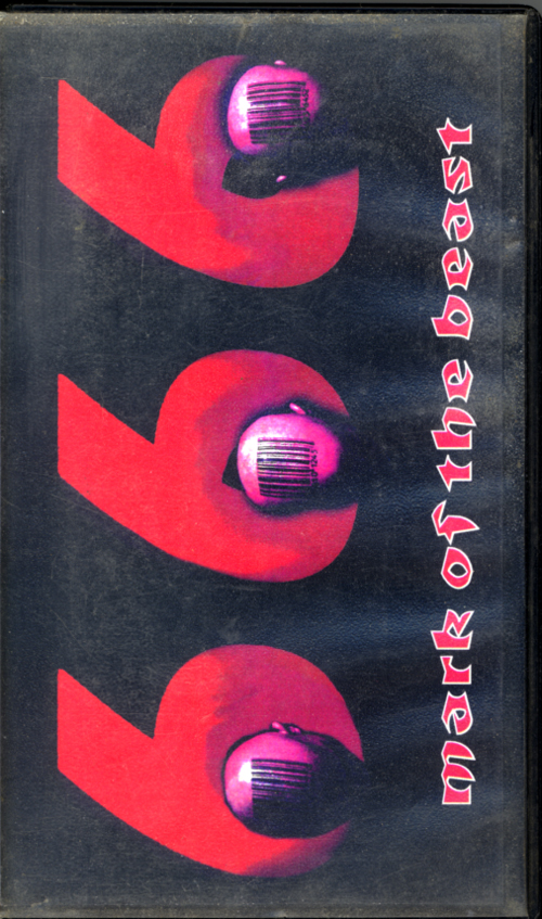 666 Mark of the Beast VHS box cover art. Propaganda video directed by Anthony J Hilder. 1998.