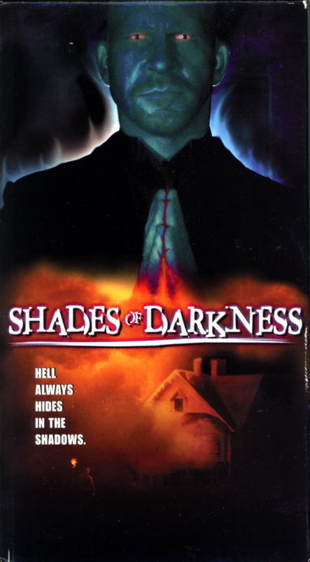 VHS covers: Shades of Darkness. Thriller movie starring John Maczko, Anne C. Trebilcock, Lorie Madison, Mick Dwyer. Directed by Christopher Johnson. 2000.