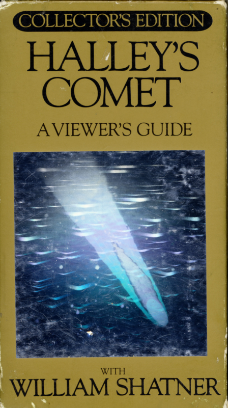 Halley's Comet: A Viewer's Guide With William Shatner on VHS. Holographic cover. 1985.