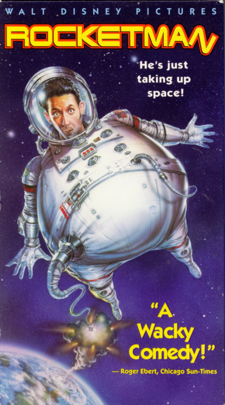 Rocketman on VHS. Comedy family romance movie starring Harland Williams, Jessica Lundy, William Sadler. Directed by Stuart Gillard. 1997.