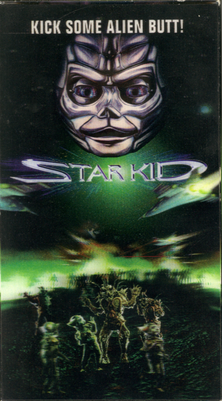 Star Kid on VHS with 3D lenticular box cover. Family sci-fi movie starring Joseph Mazzello, Richard Gilliland, Corinne Bohrer, Alex Daniels. Directed by Manny Coto. 1997.
