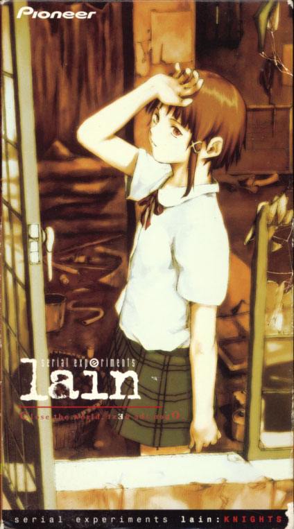 Serial Experiments Lain: Knights on VHS. Anime starring Bridget Hoffman. Character Design by Yoshitoshi Abe. 1998.