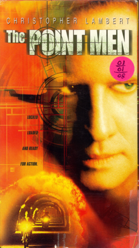 The Point Men VHS cover. Action drama movie starring Christopher Lambert, Kerry Fox, Vincent Regan. Directed by John Glen. 2001.