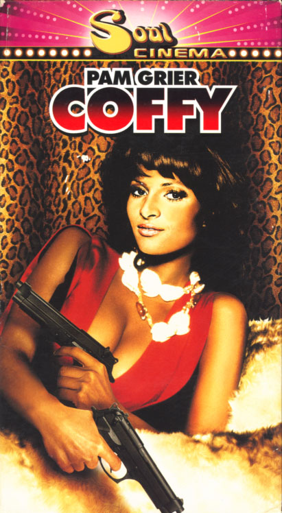 Coffy on VHS. Movie starring Pam Grier. With Booker Bradshaw, Robert DoQui, William Elliot, Allan Arbus, Sid Haig. Written and directed by Jack Hill. 1973.