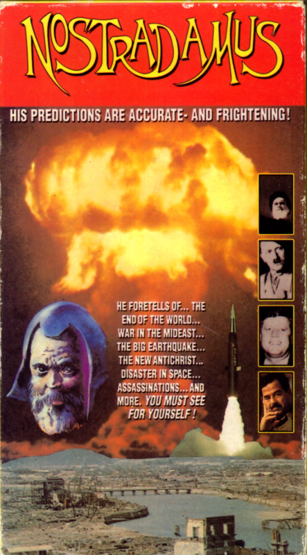 Nostradamus on VHS. Starring ? Directed by ? 1988.