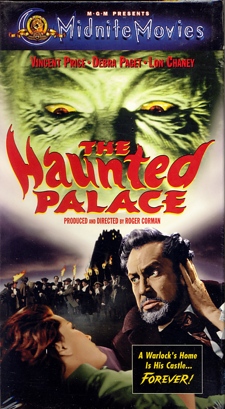 "The Haunted Palace on VHS. Sealed. Starring Vincent Price, Debra Paget, Lon Chaney Jr. Named after the poem by Edgar Allen Poe and based on the story ""The Case of Charles Dexter Ward"" by H.P. Lovecraft. Directed by Roger Corman. 1963."