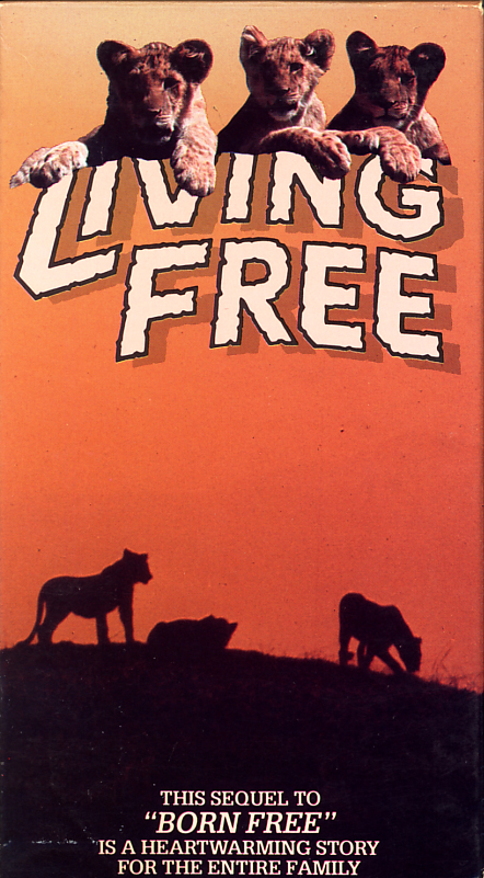 Living Free on VHS. Starring Nigel Davenport, Susan Hampshire, Geoffrey Keen. Based on the book by Joy Adamson. Directed by Jack Couffer. 1972.