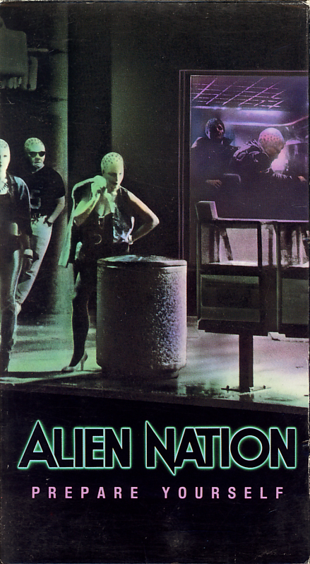 Alien Nation on VHS video. Starring James Caan, Mandy Patinkin, Terence Stamp. Directed by Graham Baker. 1988.