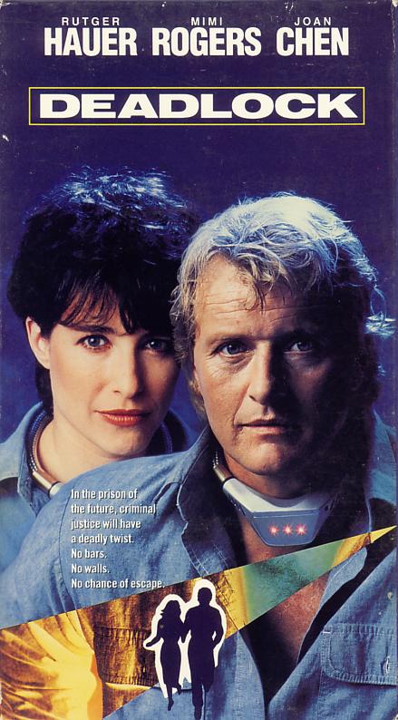 Deadlock aka Dead Lock aka Wedlock on VHS video. Starring Rutger Hauer, Mimi Rogers, Joan Chen. Directed by Lewis Teague. 1991.