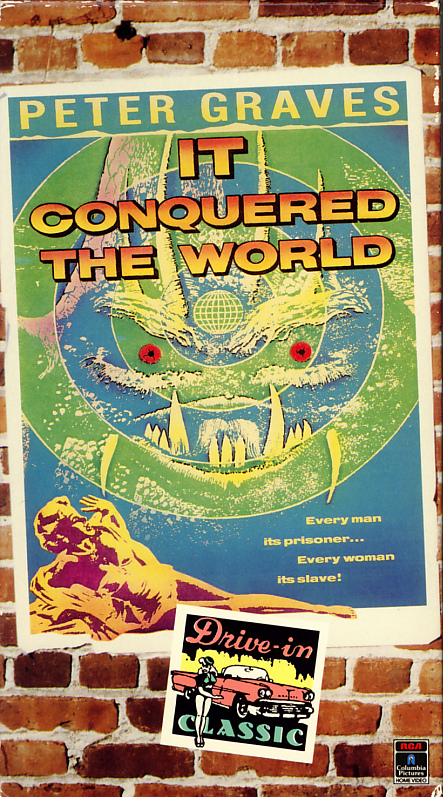 It Conquered The World on VHS video. Movie starring Peter Graves, Beverly Garland, Lee Van Cleef. Directed by Roger Corman. 1956.