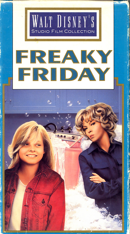 Freaky Friday on VHS. Movie starring Barbara Harris, Jodie Foster, John Astin, Dick Van Patten, Kaye Ballard, Ruth Buzzi. Directed by Gary Nelson. 1976.
