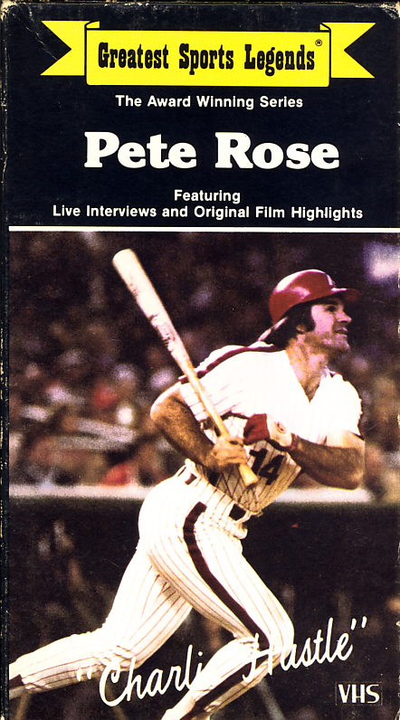 Greatest Sports Legends: Pete Rose on VHS. Video starring Pete Rose, Tom Seaver. 1985.